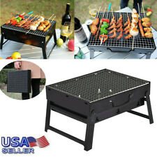 Portable Compact Charcoal Barbecue BBQ Grill Outdoor Camping Cooker Bars Smoker