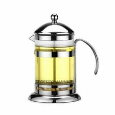 Coffee French Press Pot Stainless Steel Glass Maker Teapot With Strainer Filters