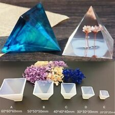 Large Pyramid Shape Silicone Mold Resin Casting Jewelry Mold Making Mould E3A5