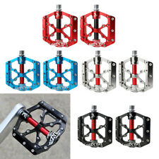 2X Mountain Bicycle Road Cycling Pedal Aluminum Alloy Platform Bearing Pedal
