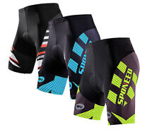 Cycling Shorts Mens 4D Slicone Pad Lightweight Cyclist Short Bottoms Trousers