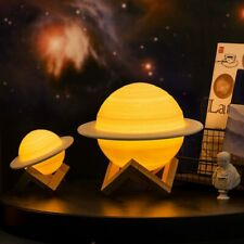 3D Print Saturn Lamp Moon Lamp Night Light Rechargeable Moon Light Xmas Gift