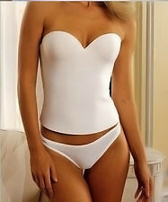 Wedding BRIDAL PUSH UP SEAMLESS BUSTIER CORSET white 32 34 36 34 36 38 40 B C D