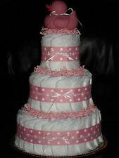 Pink, Royal Blue, Red, or Light Blue Baby Shower Diapercake