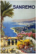 Vintage Travel POSTER.San Remo.Italy.Room art Decor.712