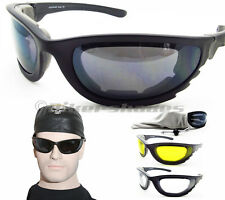 Motorcycle Sunglasses Riding Biker Sun Glasses Goggles Foam Padded Large Mens
