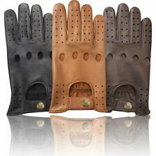 TOP QUALITY REAL SOFT COMFORT CHAUFFEUR PRIME LEATHER MENS  DRIVING GLOVES -D502