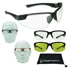ANSI Z87 Safety Rated Racket Ball Glasses CLEAR Sport Motorcycle Night Vision