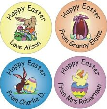 48 Personalised Easter stickers