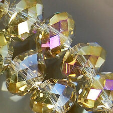 7x10mm Faceted Rainbow AB Crystal Rondelle Beads 36pcs