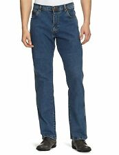 New Mens Wrangler Texas Regular Fit Stretch Jeans Blue