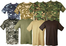 MENS MILITARY CAMOUFLAGE CAMO T SHIRT ARMY COMBAT NEW
