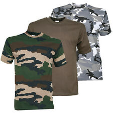 TEE SHIRT ENFANT MILITAIRE CAMOUFLAGE OUTDOOR NATURE