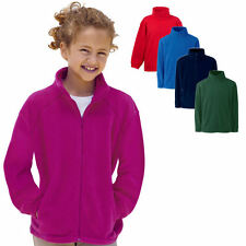 Fruit of the Loom Kinder Fleece Sweatjacke Stehkragen Sweatshirt Shirt Pullover
