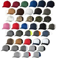 FLEXFIT NEW Trucker Cap Fitted Mesh Sports Baseball Hat One Size ANY Color b6511