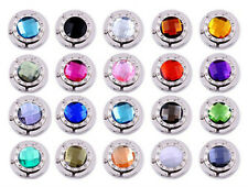 Lot New Rhinestone Crystal Folding Purse Hook Handbag Hanger Holder 20 Colors In