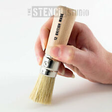 Stencil Brush from The Stencil Studio, Wood and Natural Bristle made in UK