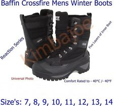 Baffin Crossfire Mens Winter Boots, Reaction Series, Sizes: 7 8 9 10 11 12 13 14