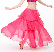New Gypsy Bohemia Belly Dance Costume 3 Layers Spiral Skirt Cake Skirt 11 colors