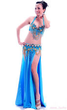 12 colors Belly Dance Costume 3pics Bra&Belt&Skirt 32B/C-34B/C 36B/C 38B/C 40B/C