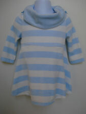 GYMBOREE GIRLS BLUE AND WHITE VELOUR STRIPED DRESS SIZE 6-12 Mos NWT