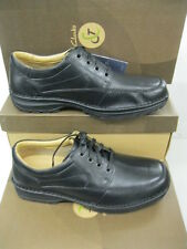 """Clarks C&J Range Mens Black Leather Shoes """"SIDMOUTH WAY"""" H-Fitting"""
