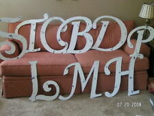 Shabby Vintage Letters A-Z cHiPpy HUGE Chic Initial