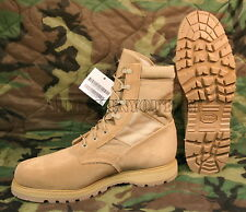 USGI THOROGOOD 8430 Coolmax Desert Tan Steel Toe Combat Boots NIB (Made in USA)