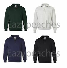 JERZEES Mens S M L XL 2XL 3XL Nu Blend 1/4 Zip Heavy Sweatshirt Jumper Top 4528m