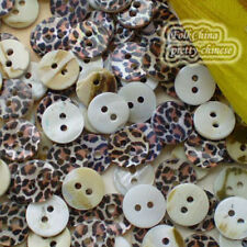 Leopard Grain 11mm Mother Of Shell Buttons Sewing Scrapbooking Beads SCP611