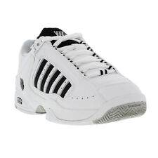 New K-Swiss Defier Rs Mens Tennis Trainers Shoes White Black Size UK 7-12