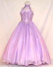 Girl National Pageant Evening Party Formal Dress size 5 6 7 Lilac Glitz Dress