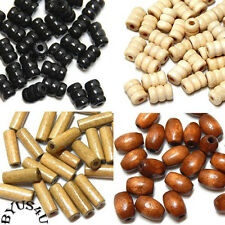 GENUINE WOOD BEADS choice of shape and texture 100pc FREE SHIPPING