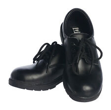 Boys BLACK LEATHER SHOES dress school formal smart NEW Toddler Sz 4 5 6 7 8 9