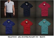 NWT HOLLISTER HCO by Abercrombie Mens Striped Polo Shirt Soft Cotton Size S M L