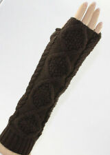 US SHIPPING UNISEX Knit Cotton Long Fingerless Gloves Arm Warmer(VARIOUS COLORS)