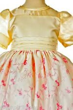 New Baby toddler Girl Pageant Formal Dress Ivory/Pink size S M L XL 0-36Month