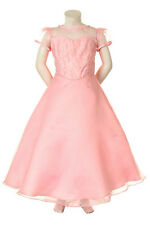 Girl Pageant Bridal evening ball flower Formal dress size 4 6 8 10 12 14 Pink