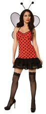 Womens Lady Bug Costume Wings Red Ladybug Halloween Adult Fancy Dress Outfit NEW