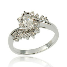 Marquise Cut Cubic Zirconia 925 Sterling Silver Wedding/Engagement Ring