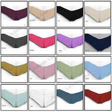 Luxury Plain Dyed Poly Cotton Platform Base Valance Pleated Sheet All Sizes