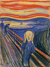 The Scream Painting By Edvard Munch Reproduction Art Print A4 A3 A2 A1