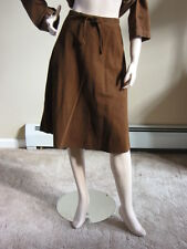 FLAX 10 Autumn A SHORTER GATSBY Cotton Corduroy Pinwale Skirt S/M U-PIK COLOR