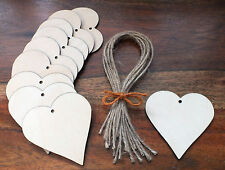 Wooden Heart Gift Tags Wedding Place Names Favours Card Blank Shapes Invitations