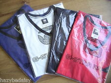 G-Star NEW Men's t-shirt Red, White, Black Blue and Grey S M L V neck