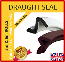 """DRAUGHT SEAL - ROLLS TO SUIT DOOR FRAMES 36"""" to 60"""" WIDE - UNBEATABLE QUALITY"""