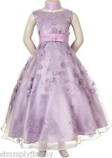 Children Girl Teen Pageant Prom Party Easter Formal Lilac Dress Sz 6 8 10 12 14