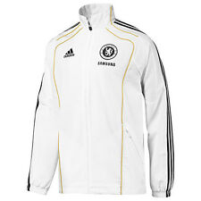 Chelsea Adidas white adults lightweight polyester football jacket 11/12  P95629