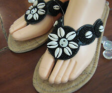 Flip Flops / Thongs - Summer Malibu Black - New - Ladies - beach fashion