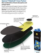 SPENCO RX POLYSORB CROSS TRAINER INSOLE ORTHOTIC MENS AND WOMENS ALL SIZES NEW